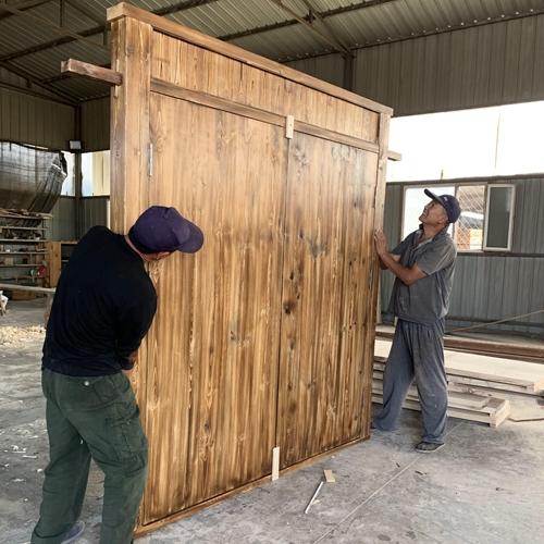 防腐木板生产