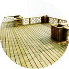 防腐木地板围栏